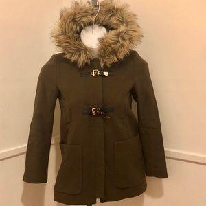 Zara Coat W/Faux Fur Hood.